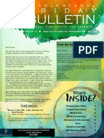 MS Parent Bulletin (Week of October 30 to November 3)