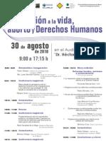 """Seminario """"Protección a la vida, aborto y derechos humanos"""""""