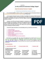 International Seminar English