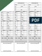 Uniform Measurement Form