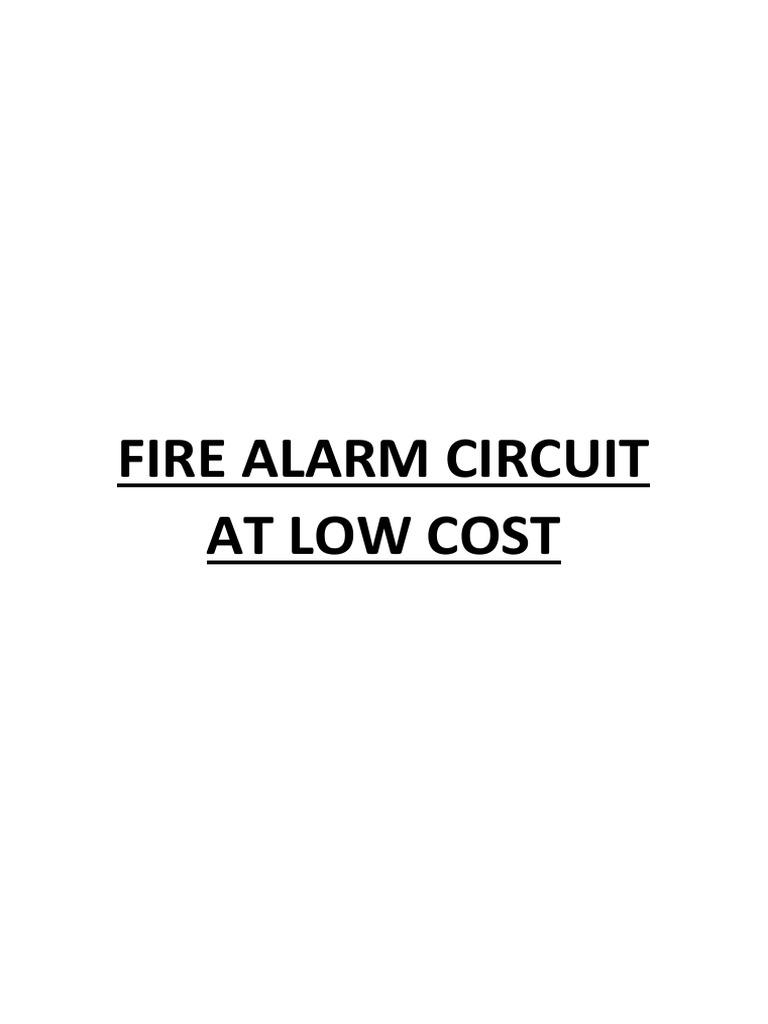 Fire Alarm Circuit At Low Cost Operational Amplifier Transistor Multi Zone Schemati Diagram