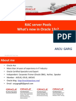 RAC Server Pools What's New in Oracle 12c