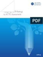 Assigning CEFR Ratings to ACTFL Assessments