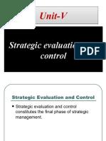 Strategic Evaluation & Control