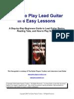 Lead Guitar 6 Lesson Guide