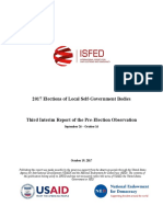 ISFED 3rd Pre-Election Interim Report - 2017 Local Elections in Georgia