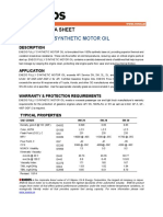 ENEOS Fully Synthetic Motor Oil Product Data Sheet 2014