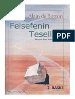 Alain de Botton Felsefenin Tesellisi
