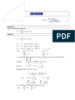 Differential Equations - Solved Assignments - Semester Fall 2004