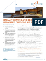 ZNE Technology - Radiant Heating and Cooling Dedicated Outdoor Air Systems