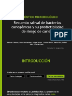 Predictibilidad de riesgo de caries de test de recuento salival