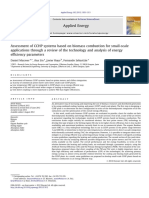 Assessment of CCHP Systems Based on Biomass Combustion for Small 2013 Appli