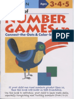 Ages 3-4-5 My Book of Number Games 1-70