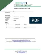 Formulir Pendaftaran Pelatihan Centrasafety