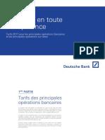 Tarifs Operations Bancaires Et Titres