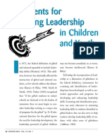 Instruments for Leadership in Children and Youth