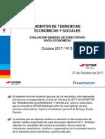 MONITOR NACIONAL. Evaluacion de Expectativas Socio-economicas. 29 Octubre 2017
