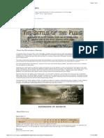 Lotr Battlegame Scenario - The Battle of the Plains
