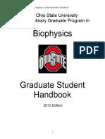 OSU Biophysics Student Handbook 2012
