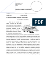 Evaluación de Lenguaje Unidad 1 Parte 1