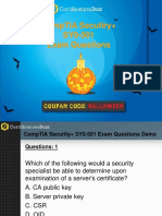 CompTIA Security+ SY0-501 Exam (Valid 88 Questions & Answers) 2017