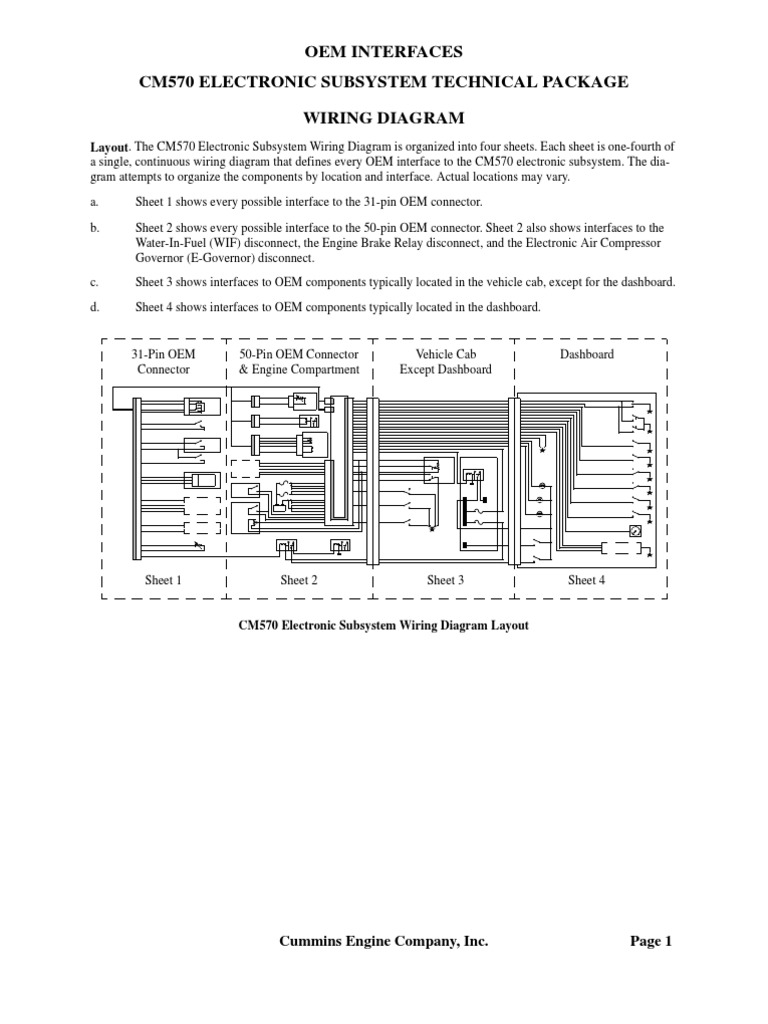 Isx Wiring Electronic Governor Circuit Diagram