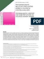 SOUZA, J. R.; Programa Basta _ Relatos e Reflexões Sobre a Violência Contra a Mulher