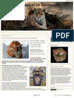 De Jaguar in Suriname Zijn in Suriname Aziatische Tijgerproducten Verkrijgbaaar