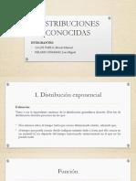 DISTRIBUCIONES CONOCIDAS