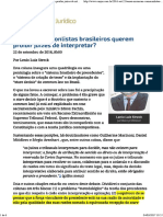 1 - ConJur - Por que commonlistas brasileiros querem proibir juízes de interpretar_.pdf