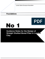 London District Surveyors Association Guidance Note 1 London Clay Piles