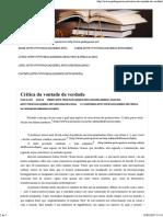 Paulo Queiroz » Crítica Da Vontade de Verdade