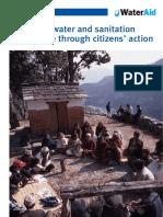 Improving Water Sanitation Governance Citizens Action Nepal