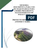 Memoria Descriptiva Cierre y Obras Civiles San Antonio y Maria