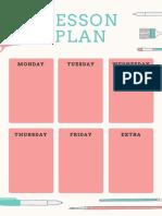 Pink & Mint Art Lesson Plan