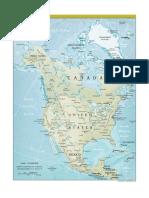 America de Nord Harta Politică