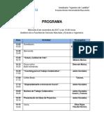 Programa Seminario Agentes de Cambio