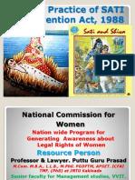 17. the Practice of SATI Prevention Act, 1988 Gp2