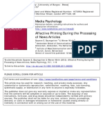 Affective Priming During the Processing of News Articles