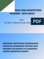 Peran, Fungsi Dan Kometensi Perawat Puskesmas Dinkes Kediri 26-03-2014