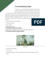 Prinsip Dasar Perawatan Ruang Isolasi