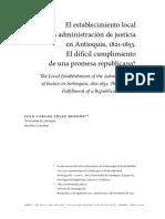 El Establecimiento Local de La Administracion de Justicia
