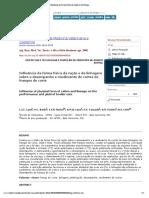 Arquivo Brasileiro de Medicina Veterinária e Zootecnia - Influência Da Forma Física Da Ração e Da Linhagem Sobre o Desempenho e Rendimento de Cortes de Frangos de Corte