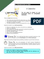 2nd ESO Oral Presentation 1st Term