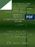 Tema No 13 La Constitucion Colombiana de 18810-1886
