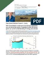 Holding XOM Board Member Susan K. Avery Accountable for COP21 Disregard