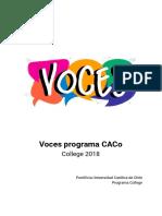 Programa Voces 2018