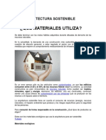 Arquitectura Sostenible - Que Materiales Utiliza