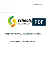 International Tour Officials Info Manual