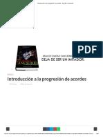 Introducción a La Progresión de Acordes - Escribir Canciones